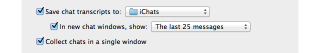 iChat Preferences